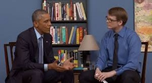 Image: YouTube Interview with President Obama