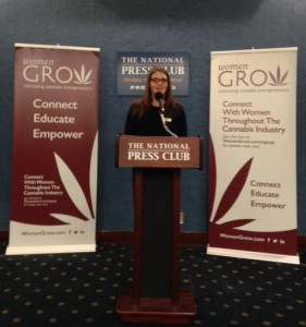 Women Grow Co-founder and Events Director Jane West kicks off Lobby Days at the National Press Club