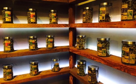 Oregon's Finest cannabis shelves